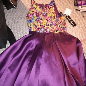 Milano formals NWT size 8P purple dress